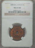Belgian Congo, Belgian Congo: Belgian Colony Pair of NGC Certified Minors1887-1888,... (Total: 2 coins)