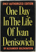 Books:Literature 1900-up, Alexander Solzhenitsyn. One Day in the Life of IvanDenisovich. New York: E. P. Dutton, 1963. First U. S. editio...