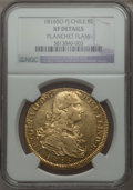 Chile, Chile: Ferdinand VII gold 8 Escudos 1816 So-FJ XF Details (PlanchetFlaw) NGC,...