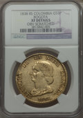 Colombia, Colombia: Nueva Granada gold 16 Pesos 1838-RS XF Details (ObverseScratched) NGC,...
