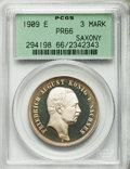 German States:Saxony, German States: Saxony. Friedrich Wilhelm III Proof 3 Mark 1909-E PR66 PCGS,...