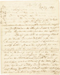 """Autographs:Military Figures, Newport, Kentucky Founder James Taylor, Jr. Autograph Letter Signed, four pages, 8"""" x 10"""", Newport, Kentucky, July 18, 1809,..."""