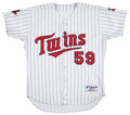 Baseball Collectibles:Uniforms, 2001 Jack Cressend Game Worn Minnesota Twins Jersey....