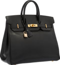 "Luxury Accessories:Bags, Hermes 32cm Black Calf Box Leather HAC Birkin Bag with Gold Hardware. Very Good Condition. 12.5"" Width x 10.5"" Height ..."