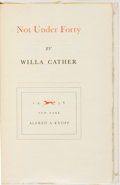 Books:Literature 1900-up, [Featured Lot]. Willa Cather. SIGNED. Not Under Forty. NewYork: Alfred A. Knopf, 1936. First edition, limited to 33...