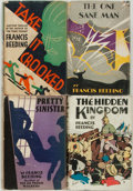 Books:Mystery & Detective Fiction, [Featured Lot]. Francis Beeding. Group of Four First Editions. Boston: Little, Brown, and Company, 1927-1934. First U.S... (Total: 4 Items)
