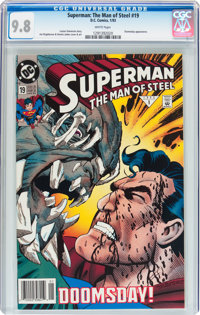 Superman: The Man of Steel #19 (DC, 1993) CGC NM/MT 9.8 White pages