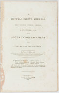 Books:Americana & American History, Rev. J[asper] Adams. A Baccalaureate Address, Delivered in St.Paul's Church, 3d November, 1835, at the Annual Commencem...