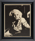 Movie/TV Memorabilia:Autographs and Signed Items, A 'Mama Jean' Signed Black and White Photograph of Jean Harlow toMargaret Hamilton, Circa 1930s....