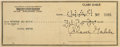 Movie/TV Memorabilia:Autographs and Signed Items, A Clark Gable Signed Check 1945....