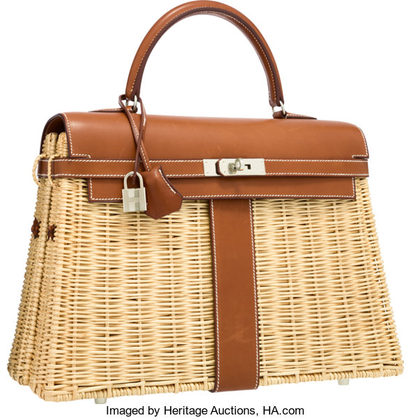 hermes limited edition 35cm natural barenia leather lot 58213