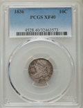 Bust Dimes: , 1836 10C XF40 PCGS. PCGS Population (27/223). NGC Census: (7/188).Mintage: 1,190,000. Numismedia Wsl. Price for problem fr...