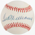 Baseball Collectibles:Balls, Circa 1985 Ted Williams Single Signed Baseball....