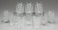 Decorative Arts, American, A Set of Ten Cut-Glass Tumblers, 20th century. 4 inches high (10.2cm). ... (Total: 10 Items)