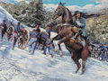Fine Art - Painting, American:Contemporary   (1950 to present)  , Rod Witmer (American, 20th Century). Winter Battle Scene, 2000. Gouache on photograph. 24 x 31-1/2 inches (61.0 x 80.0 c...