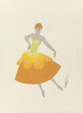Fine Art - Work on Paper:Drawing, Erté (Romain de Tirtoff) (Russian/French, 1892-1990). Gaston duMonde, costume design. Gouache on paper. 14 x 10-1/2 inc...