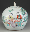 Asian:Chinese, A Chinese Famille Rose Porcelain Covered Ginger Jar, 20thcentury. 9-1/2 inches high (24.1 cm). PROPERTY FROM ...