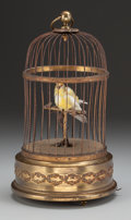 Decorative Arts, French, A Helvetic Automaton Bird Cage, Paris, France & New York, NewYork, circa 1900. Marks: HELVETIC, I&M. CORP, 366 FifthAve...