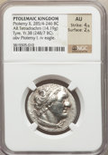 Ancients:Greek, Ancients: PTOLEMAIC KINGDOM. Ptolemy II (285/4-246 BC). ARtetradrachm (14.19 gm)....
