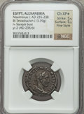 Ancients:Roman Provincial , Ancients: EGYPT. Maximinus I (AD 235-238). BIL tetradrachm (13.39gm)....