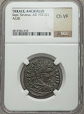 Ancients:Roman Provincial , Ancients: THRACE. Anchialus. Septimius Severus (AD 193-211). AE 28mm (no wt. given)....