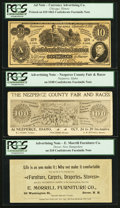 Confederate Notes:Group Lots, Facsimile Confederate Advertising Notes and More.. ... (Total: 6notes)