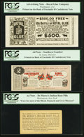 Confederate Notes:Group Lots, Facsimile Confederate Advertising Notes.. ... (Total: 5 notes)
