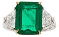 Estate Jewelry:Rings, Emerald, Diamond, Platinum, Gold Ring, Piranesi. ...