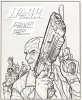 Original Comic Art:Covers, Geof Darrow Hard Boiled Foreign Edition Trade PaperbackCollection Cover Original Art (circa mid 1990s).... (Total: 2Original Art)