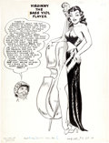 Original Comic Art:Splash Pages, Jack Sparling and Bob Powell (attributed) Monty Hall of the U.S.Marines #6 Pin-Up Pete Page Original Art (Toby, 1...