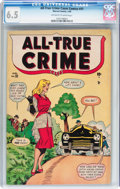 Golden Age (1938-1955):Crime, All-True Crime #31 (Atlas, 1949) CGC FN+ 6.5 Off-white to white pages....