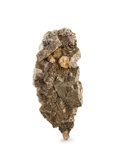 Minerals:Cabinet Specimens, Dolomite, Pyrite & Calcite. Lead-Zinc District. South WestMissouri. Missouri, USA. 6.14 x 3.17 x 2.43 inches (15.60 x8.0...