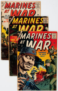 Marines At War #5-7 Complete Series Group (Atlas, 1957) Condition: Average GD/VG.... (Total: 3 Comic Books)