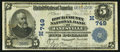 National Bank Notes:Wisconsin, Janesville, WI - $5 1902 Plain Back Fr. 598 The Rock County NB Ch. # (M)749. ...