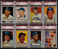 Baseball Cards:Lots, 1952 Topps Baseball NY Yankees Graded Collection (19)....
