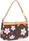 Luxury Accessories:Bags, Louis Vuitton Limited Edition Cherry Blossom Monogram CanvasPochette Bag by Takashi Murakami. Very Good Condition.8....