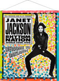 Music Memorabilia:Autographs and Signed Items, Janet Jackson Rhythm Nation World Tour 1990 Poster Signed to andfrom the Collection of Promoter Bill Graham. ...