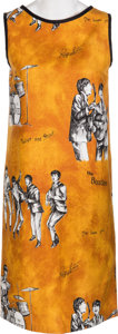 Music Memorabilia:Memorabilia, A Beatles Sleeveless Cotton Dress (Holland, 1960s)....