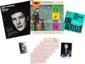 Music Memorabilia:Memorabilia, Beatles - A Group of Tony Sheridan Records, Autographs, and Photos (Polydor/Star-Club, 1962-1964)....
