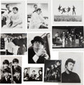 Music Memorabilia:Photos, A Group of Vintage and Press Photographs of The Beatles By DezoHoffman, Astrid Kirchherr (Signed), and Others (UK and Germany...