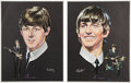 Music Memorabilia:Memorabilia, Beatles Set of Four Volpe Portrait Prints (Capitol, 1964). ...