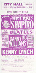 Music Memorabilia:Posters, The Beatles On The Helen Shapiro Tour Handbill (UK, 1963)....