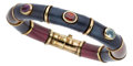 Estate Jewelry:Bracelets, Multi-Stone, Enamel, Gold, Sterling Silver Bracelet, La Nouvelle Bague. ...