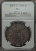 Mexico, Mexico: Republic 8 Reales 1894 Mo-AM MS62 NGC,...