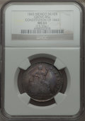 Mexico, Mexico: Republic silver Proclamation Medal 1843 MS63 NGC,...