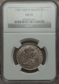 Mexico, Mexico: Charles III 2 Reales 1782/1 Mo-FF AU55 NGC,...