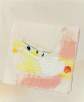 Post-War & Contemporary:Abstract Expressionism, Helen Frankenthaler (American, 1928-2011). Untitled (HappyBirthday Andre). Acrylic on paper napkin. 5 x 5 inches (12.7...