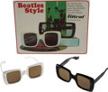 "Music Memorabilia:Memorabilia, Two Pairs Of Rare ""Beatles Style"" Sunglasses By Filtral (Germany,1966).... (Total: 4 Items)"