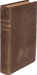 Books:Literature Pre-1900, Henry D[avid] Thoreau. Walden; or, Life in the Woods.Boston: Ticknor and Fields, 1854. First edition. ...