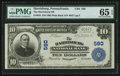 National Bank Notes:Pennsylvania, Harrisburg, PA - $10 1902 Plain Back Fr. 624 The Harrisburg NB Ch.# 580. ...